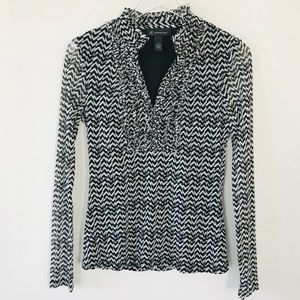 INC International Concepts Long Sleeve Blouse M